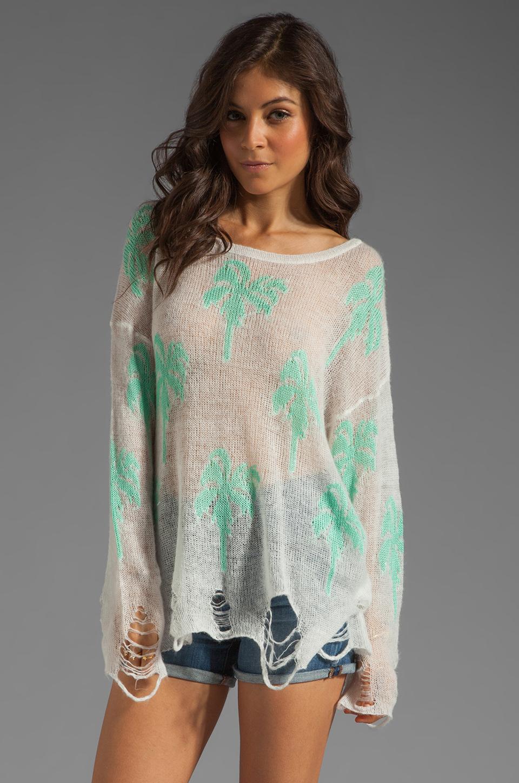 Wildfox Couture Santa Barbara Lennon Sweater in Clean White w/ Empty Pool