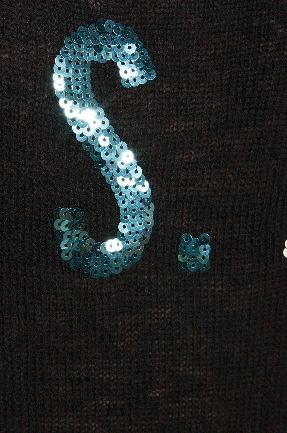 Wildfox Couture White Label Team USA Sequin Sweater in Black