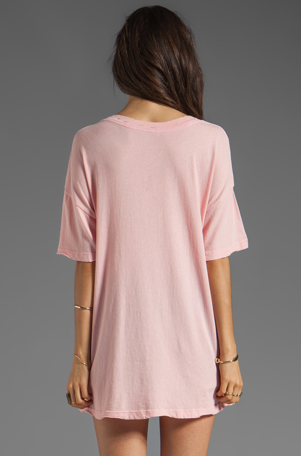 Wildfox Couture Georgia Peach Tee in Poodle Pink