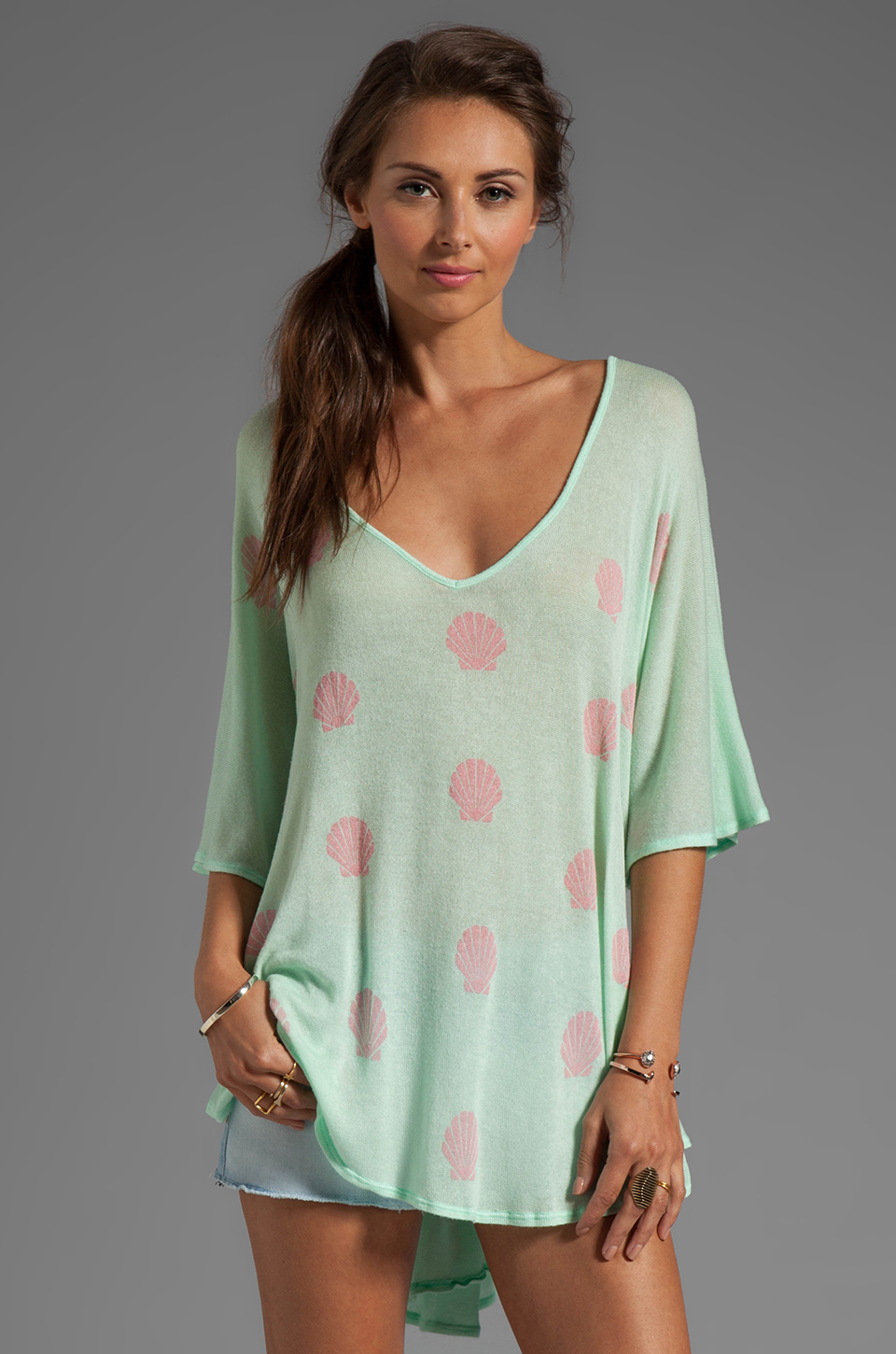 Wildfox Couture Little Mermaid Tahiti Tunic in Pool Party