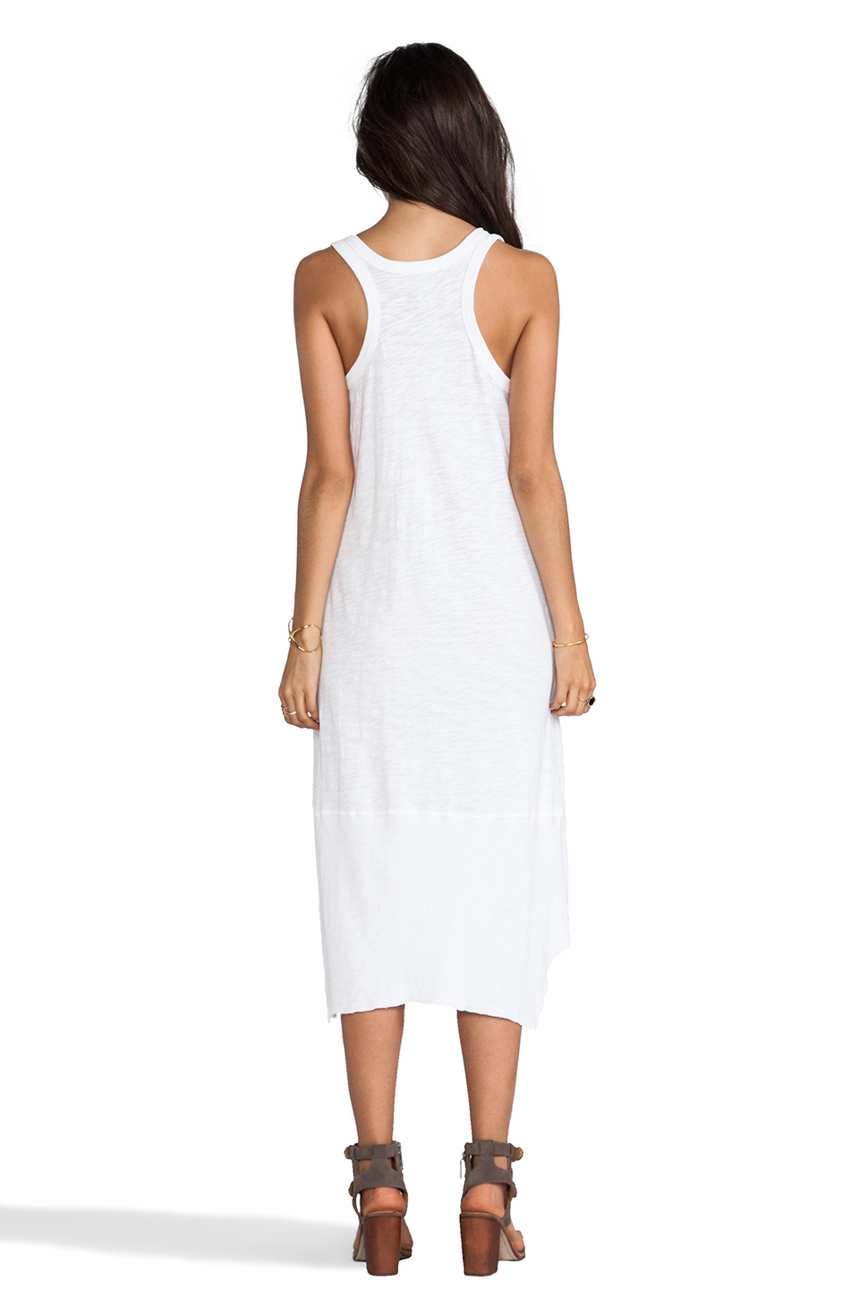 Wilt Slub Twisted Tank Dress in Standard White
