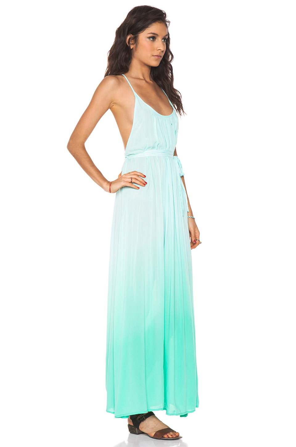 WOODLEIGH Veve Maxi Dress in Seafoam