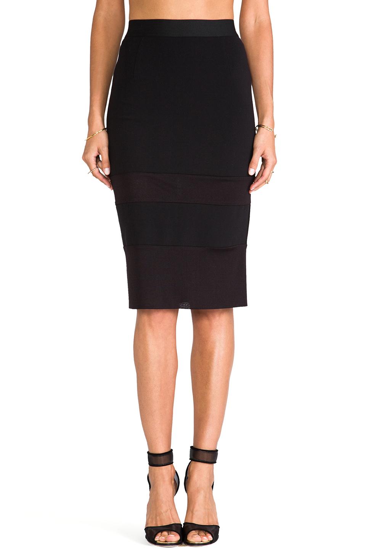 WHITE SUEDE I Like It Sheer Skirt in Black