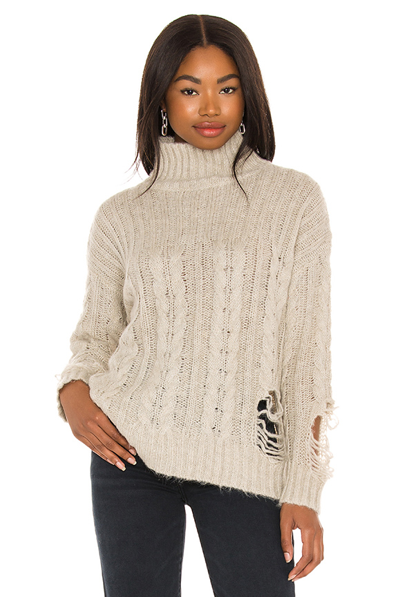 Superdown Clothing CORIN DISTRESSED SWEATER
