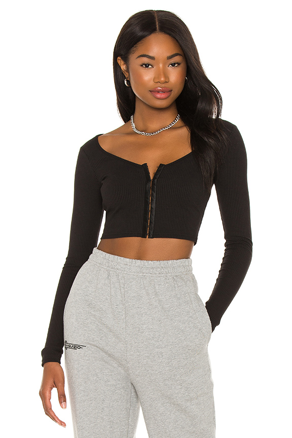 SUPERDOWN JACKIE LONG SLEEVE TOP